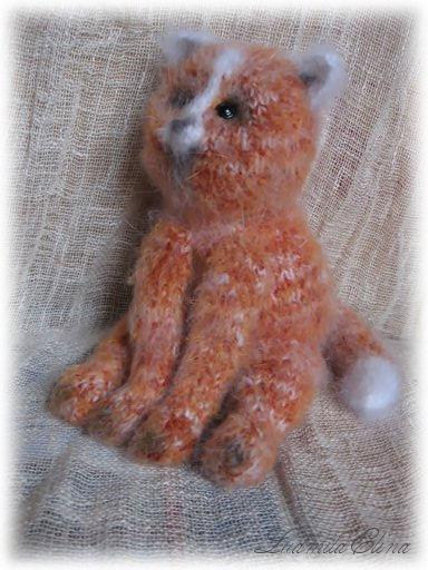 elina toys,авторская вязаная игрушка,вязаный рыжий кот,купить рыжего кота,вязаные игрушки,эксклюзивная вязаная игрушка,handmade toys by ludmila elina,интерьерная игрушка,продажа вязаных игрушек