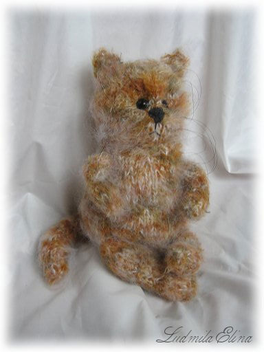 elina toys,вязаный кот,вязание игрушек спицами и крючком,handmade toys by ludmila elina,продажа вязаных игрушек