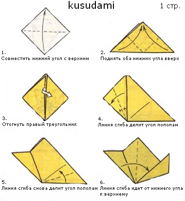 волшебный шар Кусудами,оригами