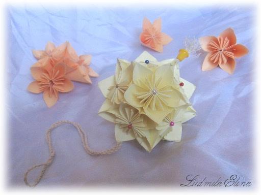 волшебный шар Кусудами,оригами,схема