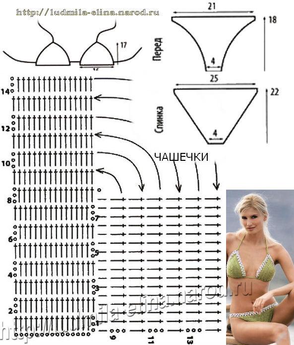 схема вязание крючком,