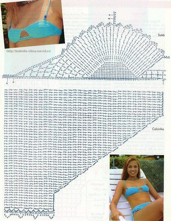 Детский купальник крючком схема и фото