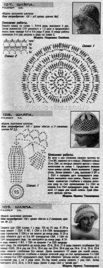 летние шапочки крючком, схемы