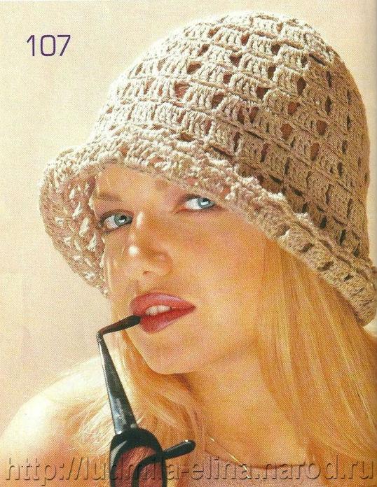 схемы летние шапочки