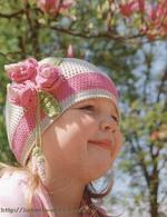 Летняя шапочка магнолия, вязание крючком, цветок крючком, схема