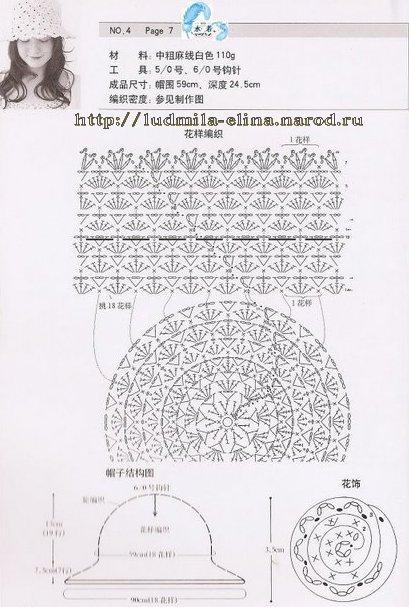 цветок крючком, схема
