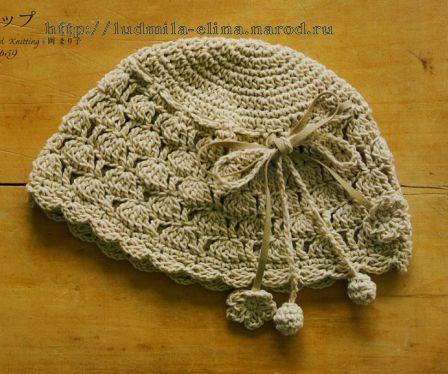 шапочка весна-лето, вязание