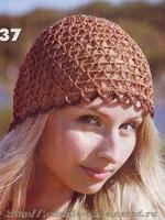 Летняя несложная ажурная шапочка, вязание крючком, для начинающих вязальщиц, схема