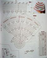 панама, вязаные цветы, вязание крючком, схема