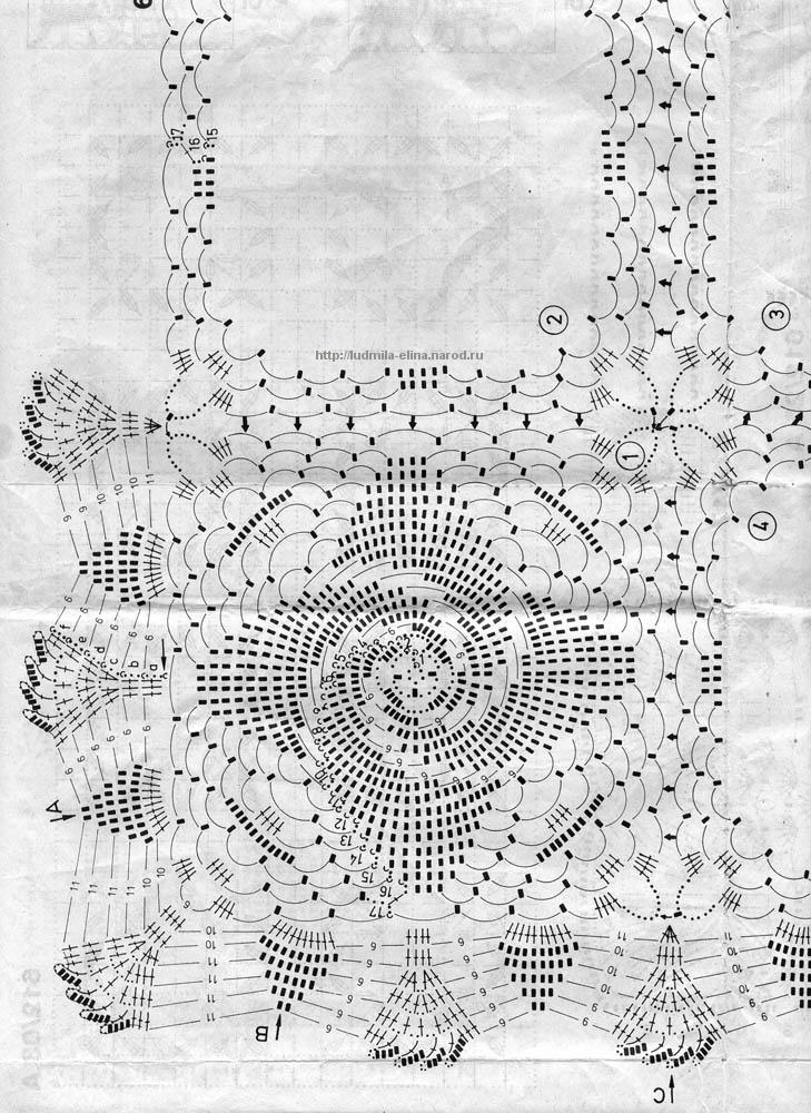 схема салфетка квадратная