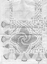 салфетка квадратная крючком, схема