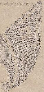 салфетка звезда крючок, схема