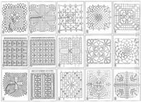 квадратные мотивы крючком, схема