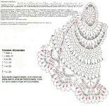 салфетка овальная, вязание крючком, схема салфетки