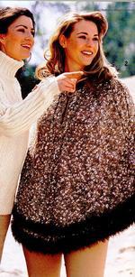 пончо с капюшоном вязаное спицами застежка-молния, схема