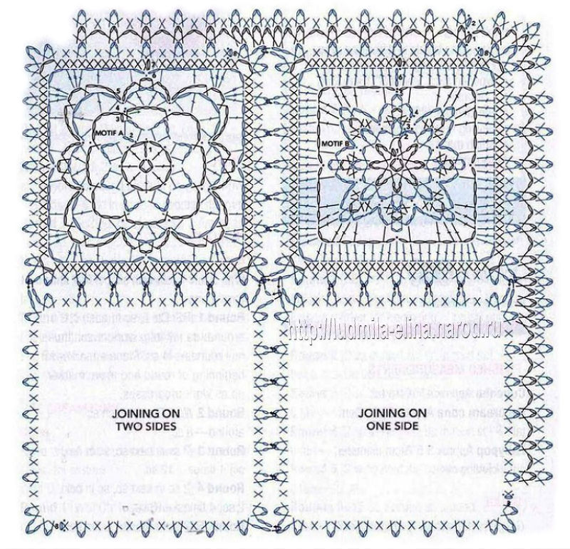Картинки схем для вязания крючком пледов 227