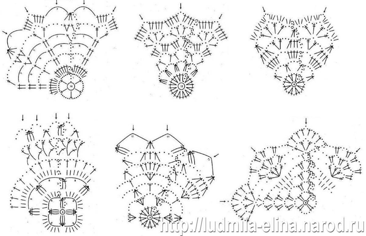 Схема вязания крючком новогодних шаров 60