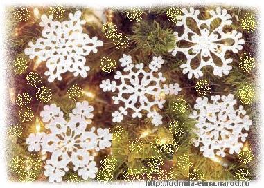 вязание крючком, снежинки, схемы