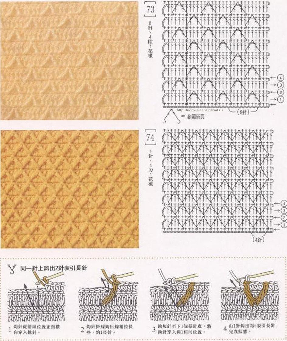 Узоры вязания крючком инструкция 25
