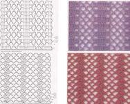 Узоры для вязания крючком со схемами