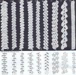ажурные шнуры тесьма крючком, схема