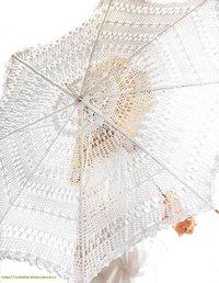 Зонтик крючком белый ажурный.