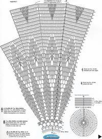 ажурный зонтик филейка крючком, схема