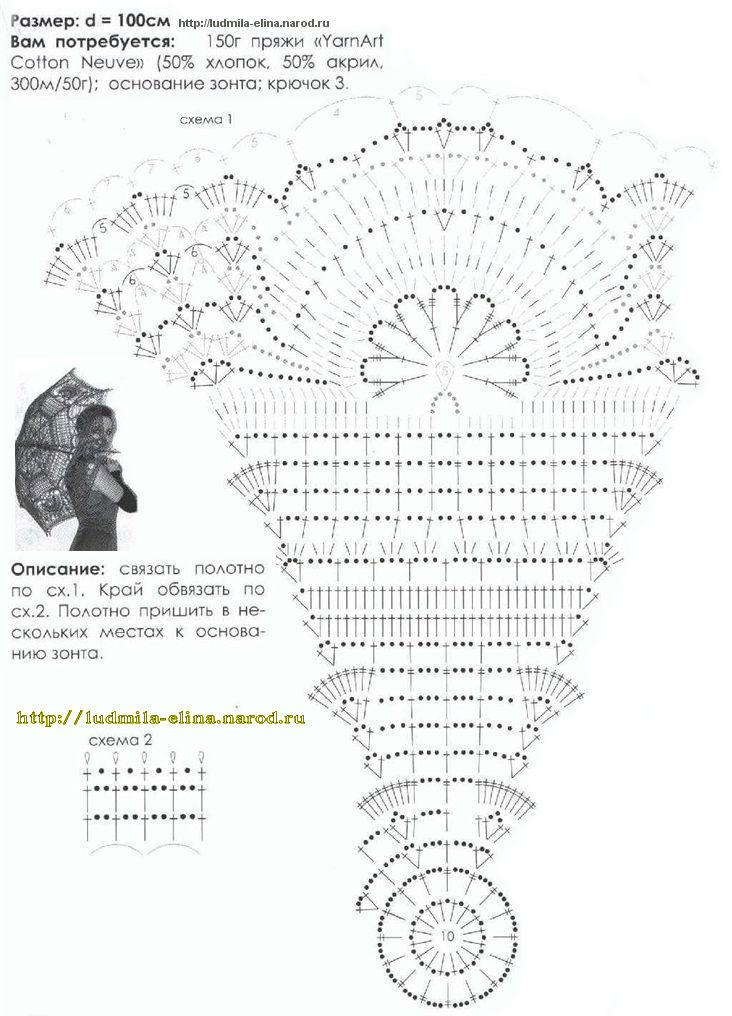 схема зонта крючком
