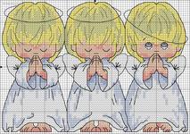 вышивка три ангелочка, схема