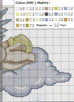 вышивка ангелочек на облачке схема