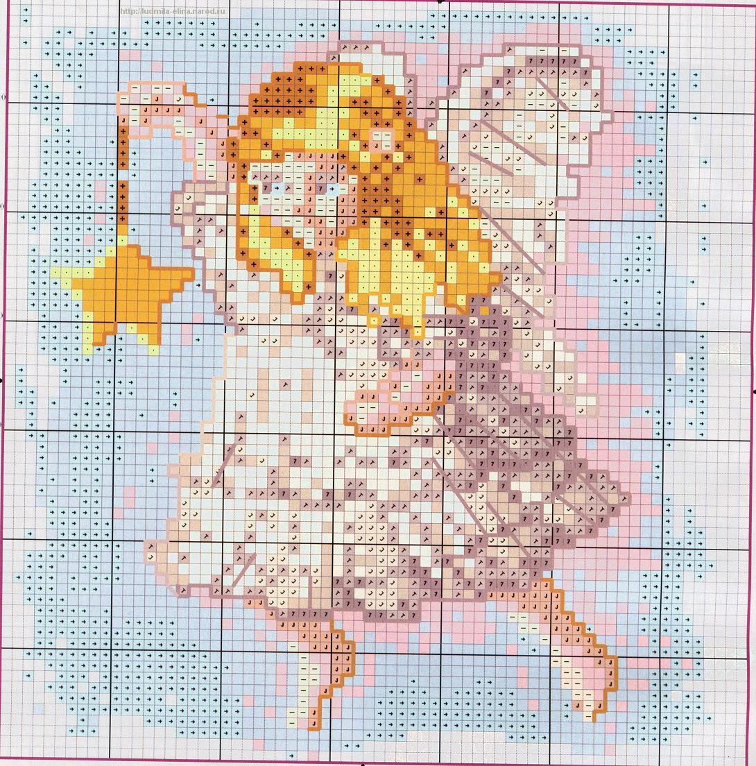 схема вышивка ангелочков