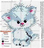 вышивка котенок, схема
