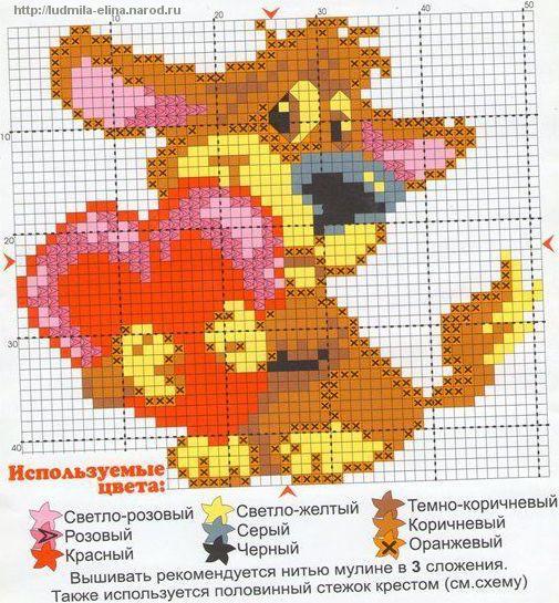 схема вышивка собачка с