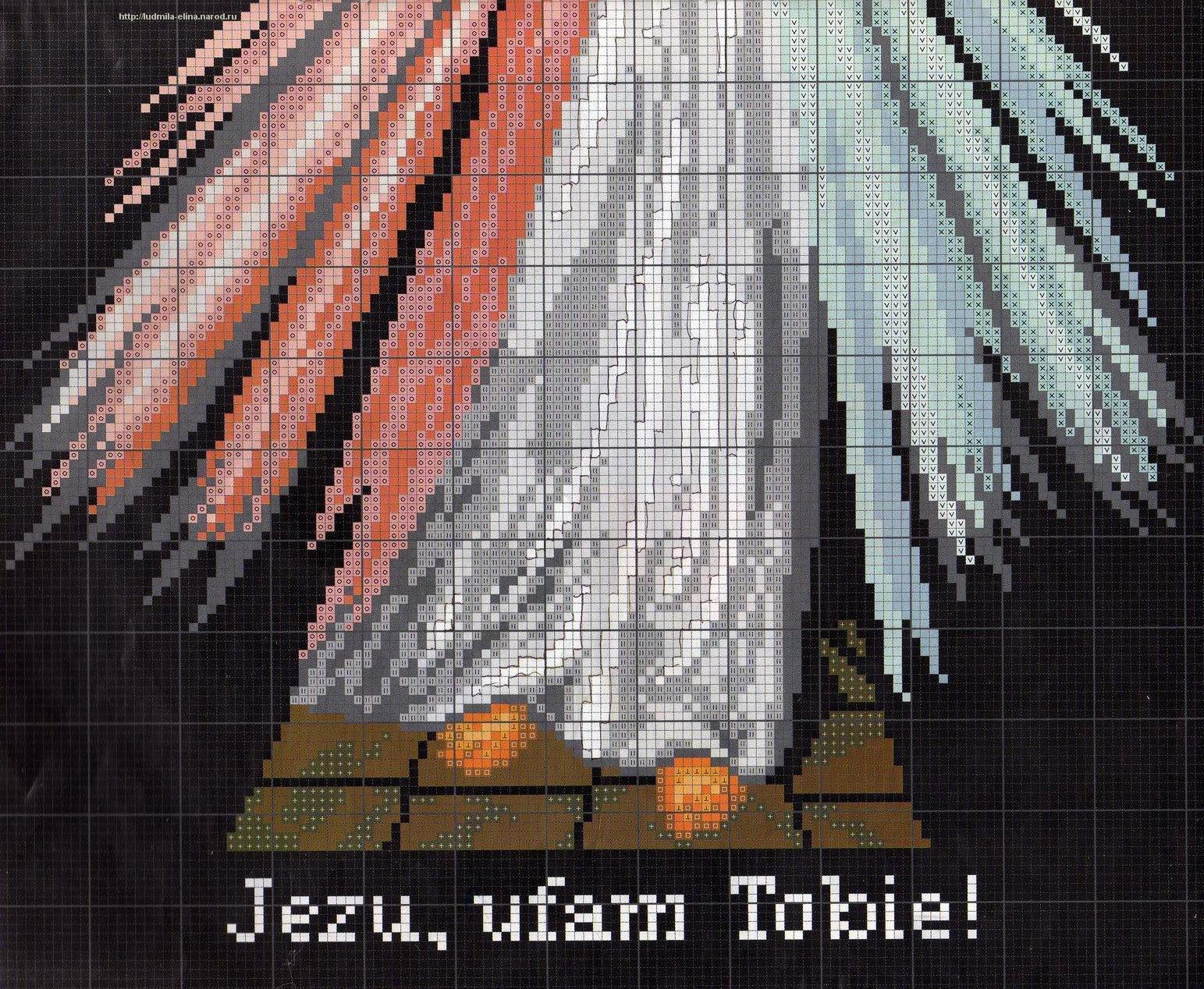 схема вышивки крестом христа