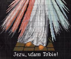 вышивка Jezus, схема