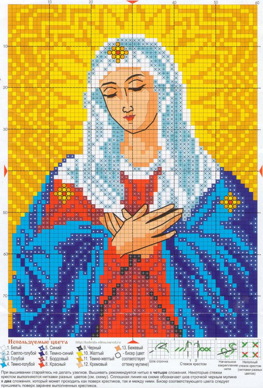 Иконы. Вышивка крестом. Схемы - 3: http://ludmila-elina.narod.ru/vyshivka/ikony-3.html