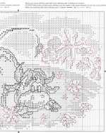 вышивка крестом бычок на лугу, схема