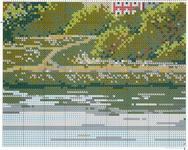 вышивка крестиком новодевичий монастырь схема