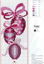вышивка яички с бантиками, схема