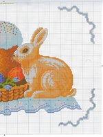 вышивка кулич верба зайчик схема