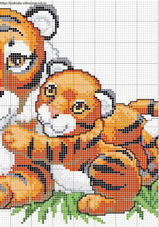 схема вышивка тигрица и